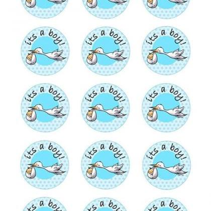 BABY BOY BABY SHOWER CUPCAKE TOPPER..