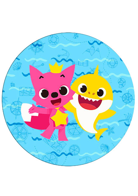BABY SHARK 7.5' CAKE TOPPERS WAFER PAPER EDIBLE MULTIPLE DESIGNS PERSONALIZE FREE